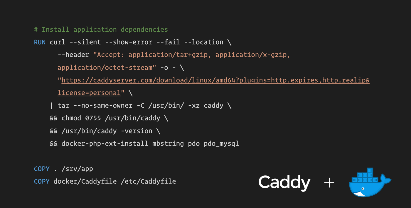How to use Caddy with PHP and Docker